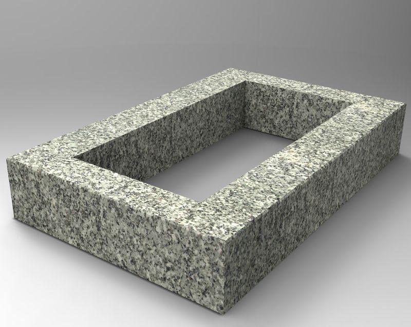 grabeinfassung in granit schlesisch oe105e edler grabschmuck und. Black Bedroom Furniture Sets. Home Design Ideas