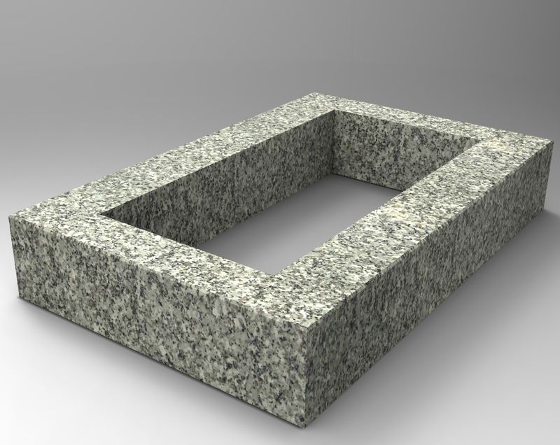 grabeinfassung in granit schlesisch oe105e. Black Bedroom Furniture Sets. Home Design Ideas
