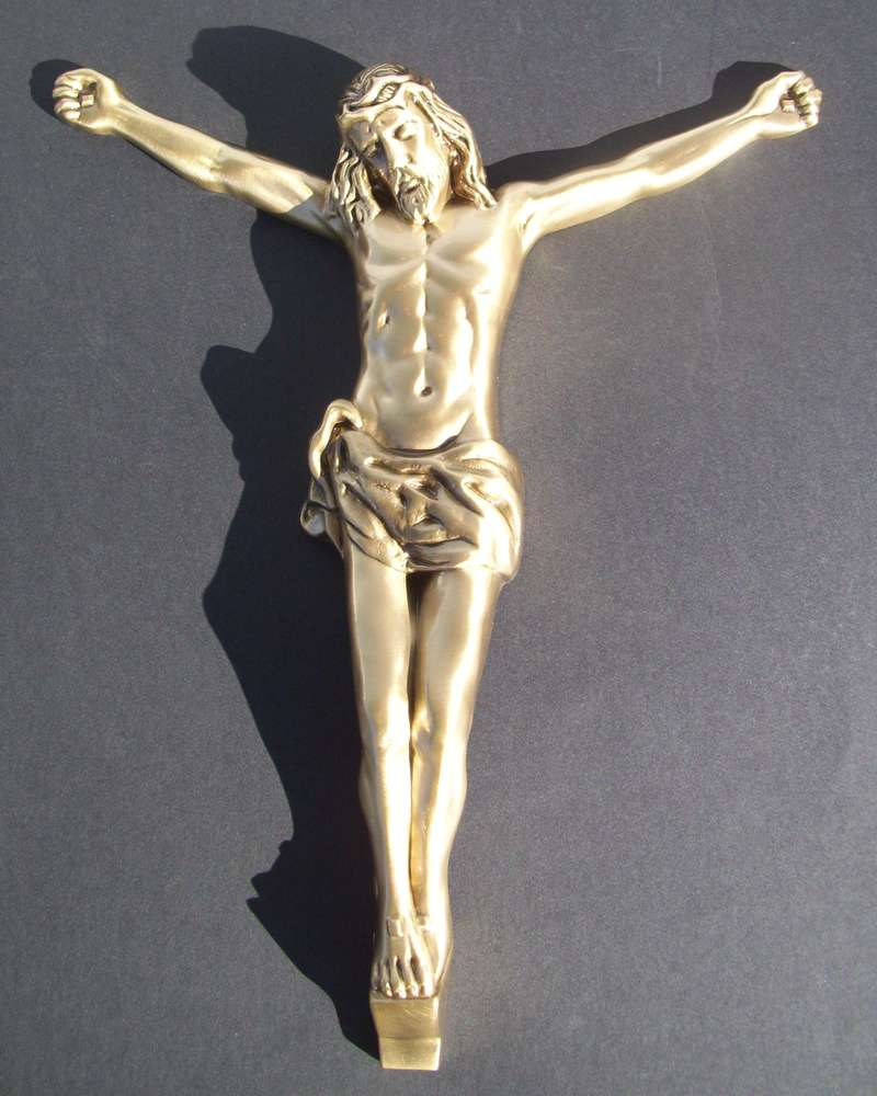 "Ornament ""Jesus"" aus Messing"