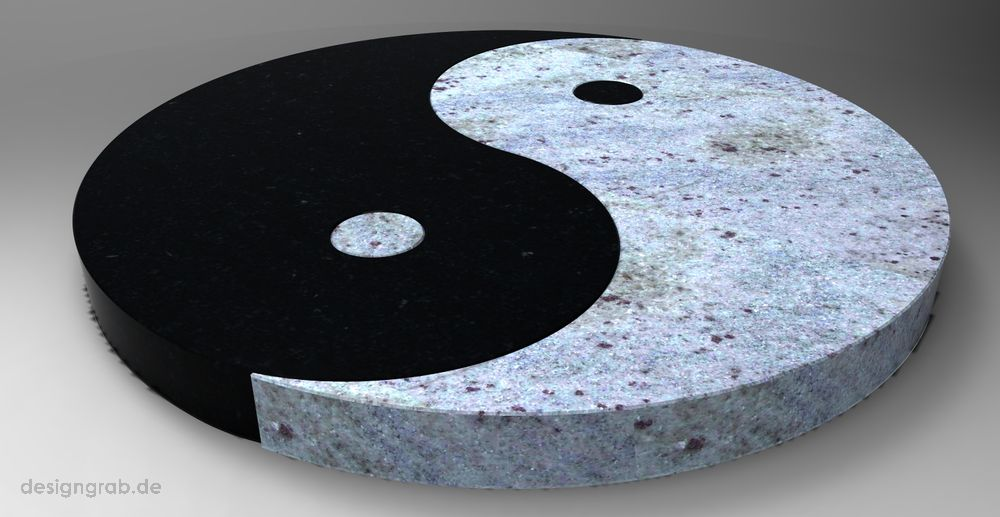 "Liegestein ""Ying Yang"""